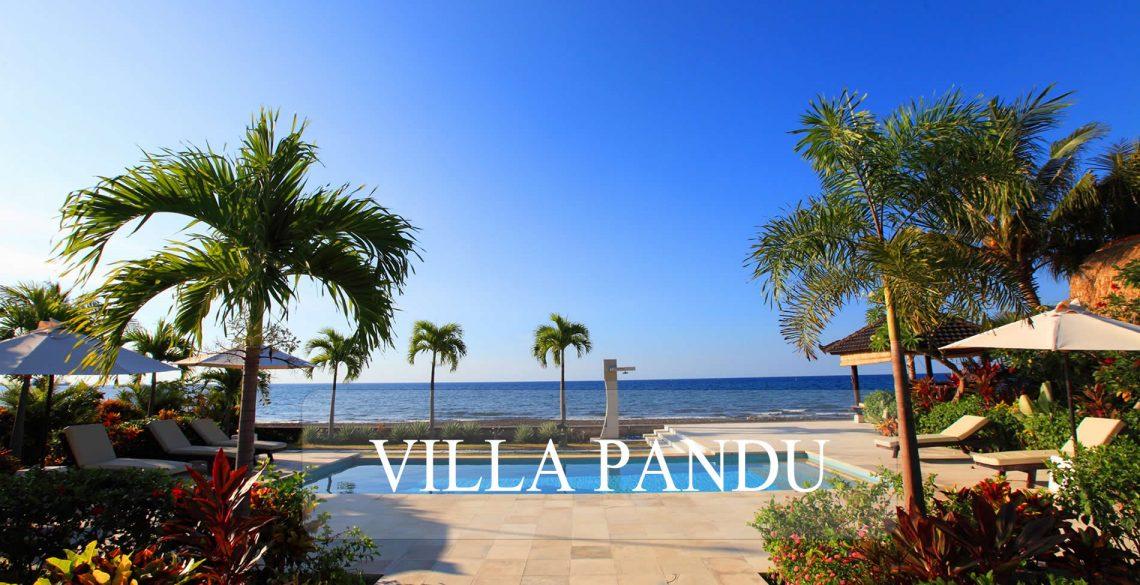 Villa Pandu uitzicht op zee